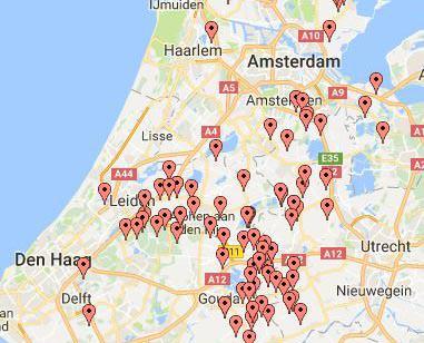 Proeftuin Veenweiden kaart van het gebied met deelnemers