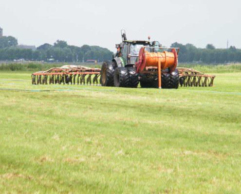 ammoniakemissie bij het uitrijden van mest