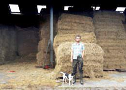 Proeftuin Veenweiden deelnemer Mattias Verhoef meer dan 40 ton hooi